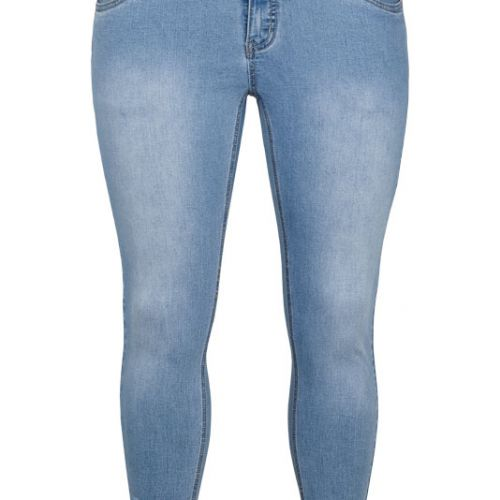 Adia Rome stumpebuks i blue denim