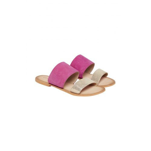 Cream Irina sandal i sea pink