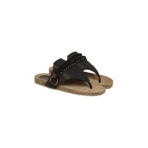 Cream Chloe sandal i pitch black
