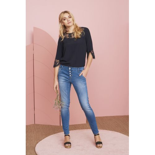 Cream Mary jeans - Bailey fit i denim blue