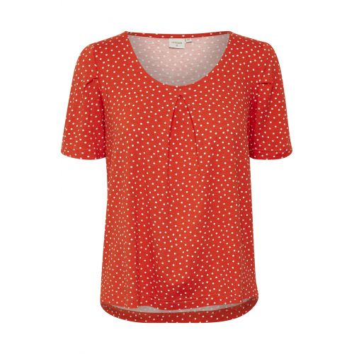 Cream Ally t´shirt i en smuk spring orange