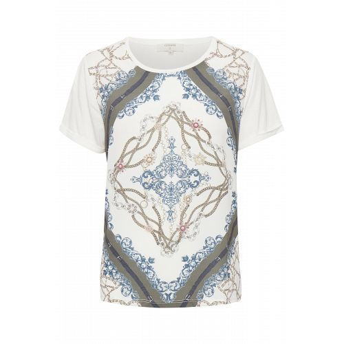 Cream Chainy t´shirt med print