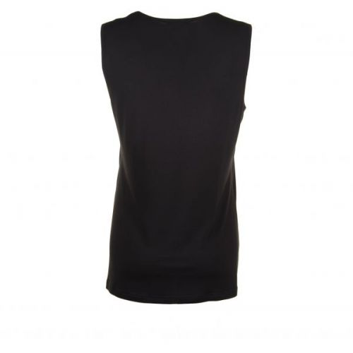 Sandgaard sort basic top i viscose