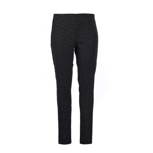 Leggings i sort med silver pinstribe