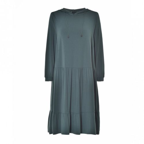 Studio hoody sweat dress i dusty green
