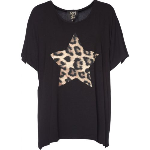 Smart leopard star t´shirt fra No. 1 by Ox