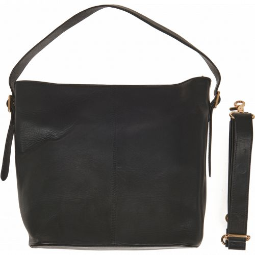 Stor sort bucket bag fra No 1 by Ox