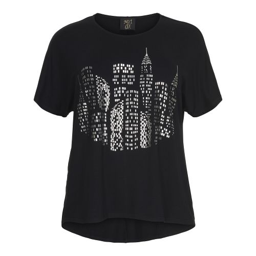No 1 by Ox t´shirt med city light sølvprint