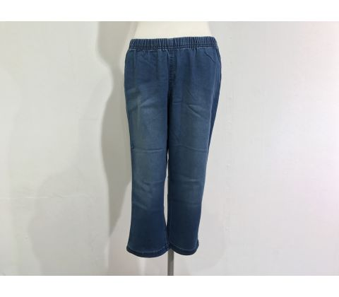 Zizzi knickersleggings i blue denim