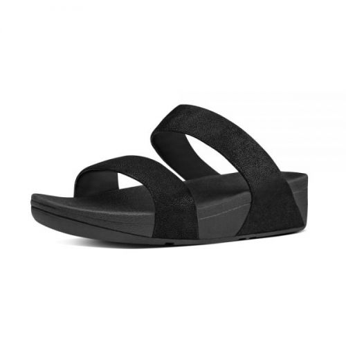 Fitflop sort sandal med to remme
