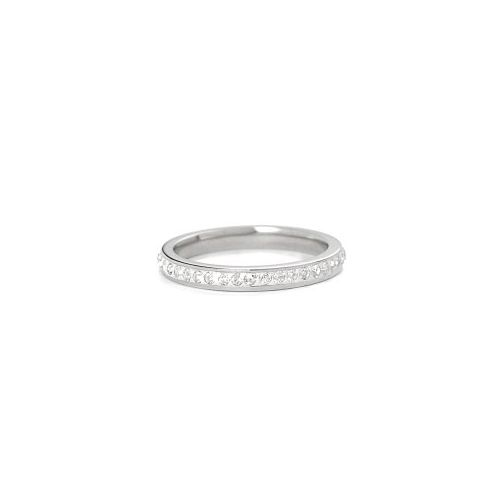 VÅGA Bling fingerring - steel-clear 18mm