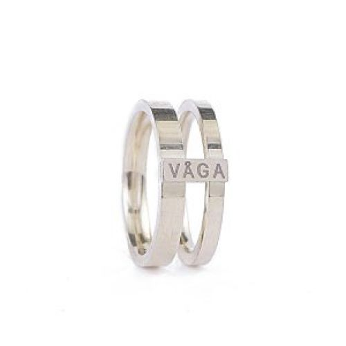 Våga Zala fingerring - steel-gold 18mm