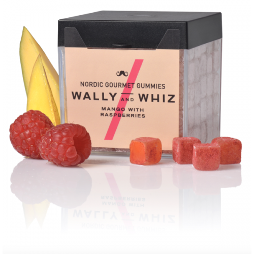 Wally and Whiz gourmet vingummi med mango og hindbær
