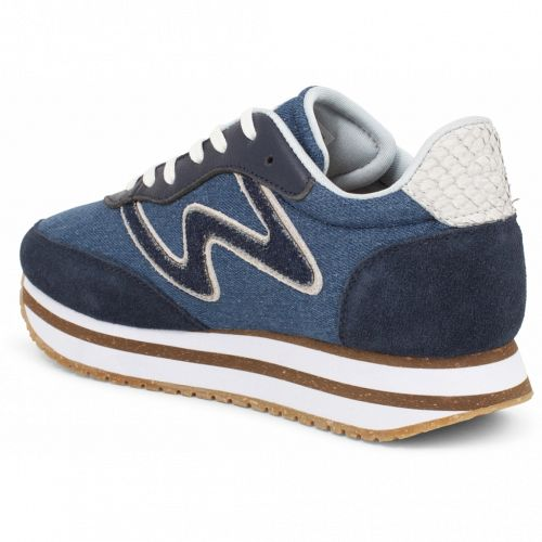 Super cool Woden sneaks Olivia II i plateau denim
