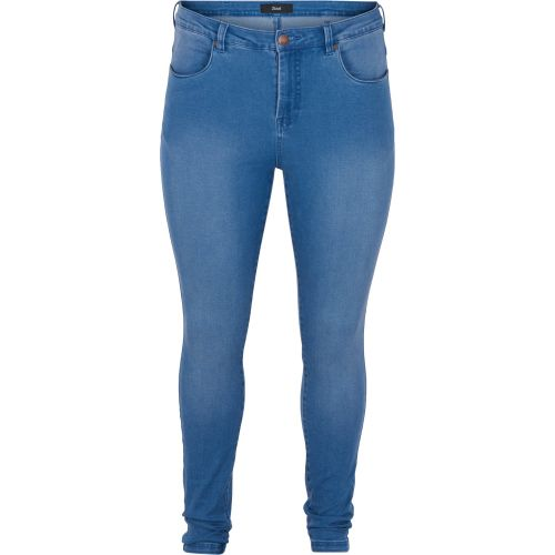 Zizzi super slim jeans i blue