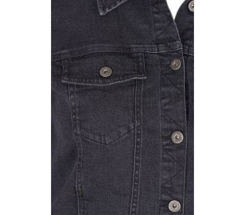 Zizzi denim jakke i black rinsed